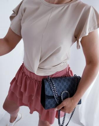 spódniczka mini z falbankami
