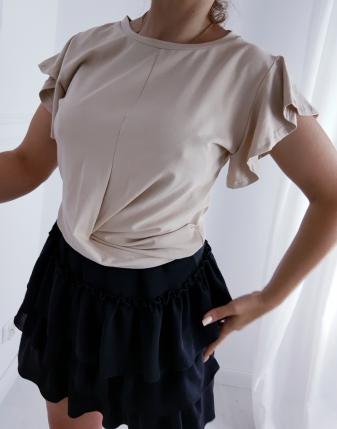 bluzka beżowa przeplatana