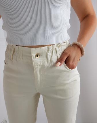 spodnie jeansowe ECRU
