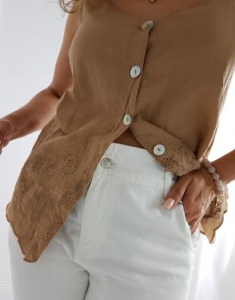 spodnie slouchy białe