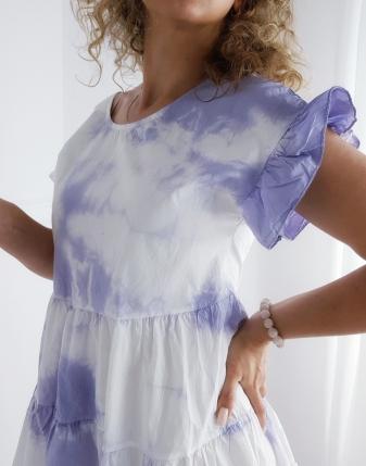 sukienka mihos batik FIOLET