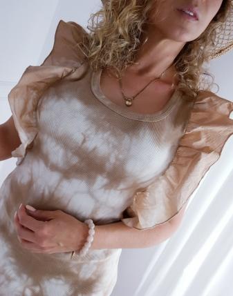 sukienka batik prążek