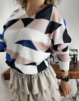 sweterek we wzory