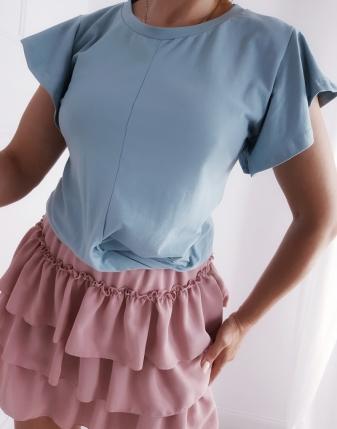 niebieska bluzka przeplatana