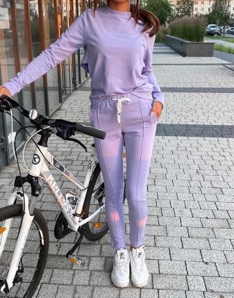 dres fioletowy z falbankami butik lamaja