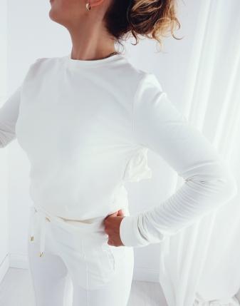 dres biały z falbankami