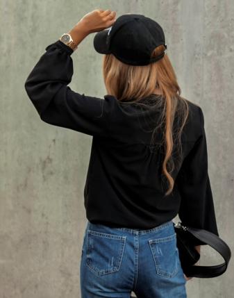elegancka czarna bluzka